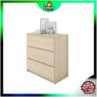 READY STOCK🍋 Chest Drawer HMZ-CD-DT-7000 with 3 Layer Drawer Storage - 2.5 ft Almari Laci 3 Tingkat ala2 IKEA