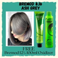 Lucena Hair Supplies Bremod 8.16 Ash Gray / Ash Grey+ Bremod 12% Oxidizer 100ml FREE