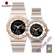 KADEMAN K9079&K9079L Couple Watches Simple Steel Belt Waterproof Quartz Fashion Watch Men and Women Couples Gift Watch