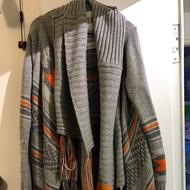 Superdry 極度乾燥 女 針織 長版 流蘇 編織 大衣