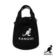 KANGOL 韓版玩色系列-帆布斜背水桶包-黑色 AKG1214