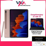 [Free keyboard cover worth RM999] Samsung Galaxy Tab S7+ S7PLUS S7 plus 12.4 Inch Android Tablet WIFI ( 8GB RAM + 256GB ROM ) WITH KEYBOARD COVER T970 Original Malaysia Set Black   Brown   Silver similar to Samsung Galaxy S6 lite Huawei MediaPad M5 Lite