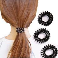 人魚朵朵 小電話線髮束 電話圈 黑色髮圈 髮飾 黑色髮圈 綁頭髮 造型品飾品 不咬頭髮 (100入) 廠商直送 現貨