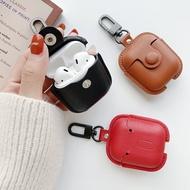 耳機保護套 【軟皮款】適用蘋果Airpods2保護套皮質二代airpods Pro皮套3代藍芽無線『XY16602』