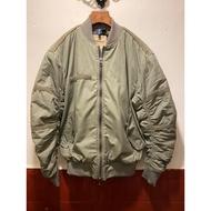 空白古著 H&M仿舊飛行員夾克外套