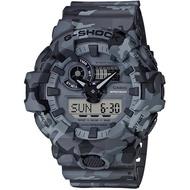 【CASIO 卡西歐】G-SHOCK 迷彩潮流雙顯手錶(GA-700CM-8A)