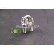 【南陽貿易】不鏽鋼 白鐵 鋼索夾 5mm 鋼索 固定器 固定夾 C型夾 SUS304