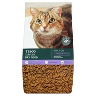 REPACK TESCO CAT FOOD ADULT CAT COMPLETE DRY FOOD TESCO 1KG WITH ASSORTED FLAVOUR