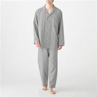 [MUJI 無印良品] 男有機棉無側縫二重紗織家居睡衣灰色
