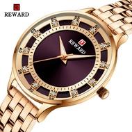 REWARD豪華石英女士手錶 時尚修身女款 鋼帶手錶(日本石英機芯)