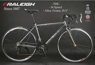 700C Raleigh 14-Speed Shimano Alloy Frame Road Bike Light Weight