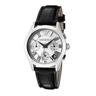 Emporio Armani Women's Quartz Watch AR0670 with Leather Strap(Black)