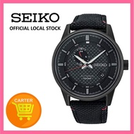 Seiko Sports Automatic Black Nylon Strap SSA383K1 SSA383K SSA383 Men's Watch