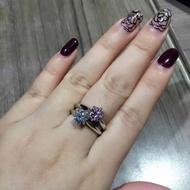 T芙尼 925純銀六爪戒指 1克拉2克拉 純銀戒指 求婚 結婚 鑽戒 八心八箭 專櫃同款 鋯石 蒂芬妮 Tiffany