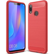 For Huawei Nova 3i Phone Case Silicone Protection Shock Absorption Cover and Carbon Fiber Design Casing