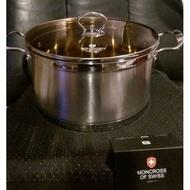 全新【瑞士MONCROSS】304不鏽鋼琥珀湯鍋組24cm