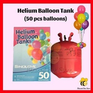 Original Portable Helium Balloon Gas Tank for Party Decoration TONG GAS HELIUM BELON UNTUK 50PC