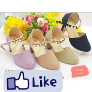รองเท้าคัชชูส้นสูงสำหรับเด็กผู้หญิง รองเท้าแฟชั่น น่ารัก ใส่สบาย มี 4 สีให้เลือก ไชส์ 25-36