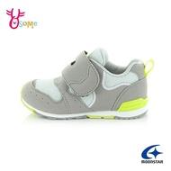 Moonstar月星童鞋 中童 男童機能鞋 矯正鞋 HI系列 運動鞋 寬楦日本機能鞋 魔鬼氈 J9671#灰色◆奧森