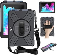 "ZenRich Surface Go 2 Case 2020, Surface Go Case 2018 with Pen Holder Heavy Duty Shockproof Rugged Case with Stand Hand Strap and Shoulder Belt for Surface Go 2 2020 / Surface Go 10"" 2018-Black"