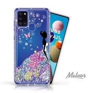 【Meteor】SAMSUNG Galaxy A21s 奧地利彩鑽空壓防摔手機殼(花嫁)