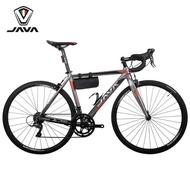 JAVA road bike aluminum alloy 18 speed road bike variable speed bicycle student bending handle racing car VELOCE titaniu