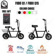 Fiido Q1 / Fiido Q1S UL2272 Certified LTA Compliance Electric Scooter E Scooter Local Seller