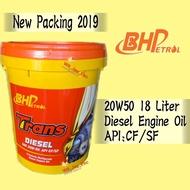 BHP 20W50 18 LITER DIESEL ENGINE OIL TRANS DIESEL 18L
