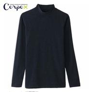 【Corpo X】男款半高領發熱衣(黑)
