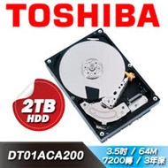 TOSHIBA【桌上型】2TB 3.5吋硬碟(DT01ACA200)