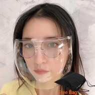 Warmlife【Face Shield with Bag】Face Shield Acrylic Full Face Shield Protective Goggles Anti-fog Anti-dust Anti-splash Anti-Wind Full Face Matte Acrylic Face Shield Widen PC Lens Transparent Protective Goggles Glasses for Adult