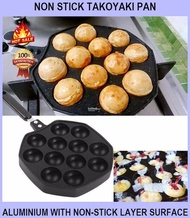 Takoyaki Japanese 12 Holes Non Slip Maker / Waffle Pan Takoyaki Non-stick Pan - NON STICK TAKOYAKI PAN / ALUMINIUM WITH NON-STICK LAYER SURFACE / APPLICABLE FOR GAS STOVE
