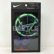 BEETLE 現貨 NIKE 經典 籃球 LOGO 黑 綠 紫 襪 圍兜 包屁衣 禮盒 男寶寶 彌月禮盒 AJ-183
