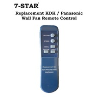 Replacement KDK / Panasonic / National Wall & Stand Fan Remote Control