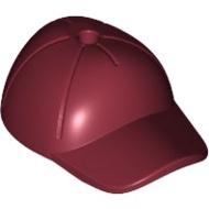 【LEGO 大補帖】深紅色 棒球帽【6102964/11303/76054/60167/10259】(MH-22)