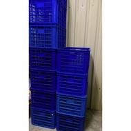 藍色六格籃 /搬運藍 /工具籃 /塑膠籃 /疏菜籃 /水果籃 /物流箱 /水產箱 /塑膠藍