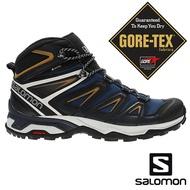 【SALOMON 法國】男 X ULTRA 3 GTX中筒登山鞋『海藍/寶石藍/煤煙核』408141