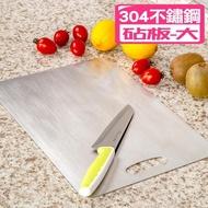 【佳工坊】304不鏽鋼面板抗菌菜板砧板(大)