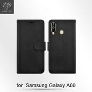 【Metal-Slim】Samsung Galaxy A60(高仿小牛皮磁吸多工卡匣TPU皮套)