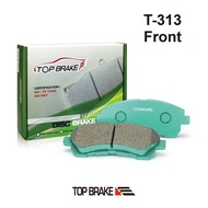 TOPBRAKE 中華FREECA福利卡/ABS 汽車前碟煞車來令片-指定保養廠免安裝費T313