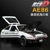╭。BoBo媽咪。╮盒裝 附電池 建元模型 1:28 Toyota AE86 豐田 藤原拓海 頭文字D 聲光回力車