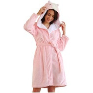 Women Lovely Animal Design Hooded Coral Fleece Bathrobe Sleepwear Night-robe pajamas for women winter sleepwear sleepwear women