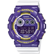 CASIO 卡西歐 G-SHOCK 玩酷撞色手錶-紫x白 GD-120CS-6