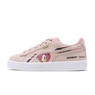 Puma 休閒鞋 Sega Suede Sonic PS 音速小子 粉紅 麂皮 童鞋【ACS】 371998-02