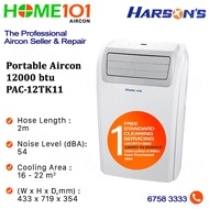 Harsons Portable Aircon 12000BTU PAC-12TK11*NO INSTALLATION* - FREE ONE TIME STANDARD CLEANING