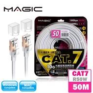 MAGIC 鴻象 Cat.7 SFTP光纖超高速網路線50米 白(CAT7-R50W)