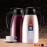 【PUSH! 居家生活用品】不銹鋼超大容量雙層真空保溫水壺保溫瓶2000ml熱水瓶(E84)