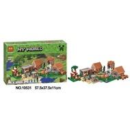 Brick Bela 10531 Minecraft The Village MyWorld Mainan Edukasi