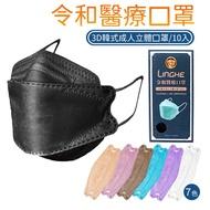 韓版 魚型口罩 令和 立體口罩 醫療口罩 台灣製造 1盒10片 雙鋼印 MIT 成人3D 令和醫療韓式立體口罩 未滅菌
