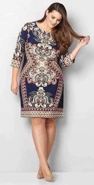 spandex fashion casual 3/4 dress